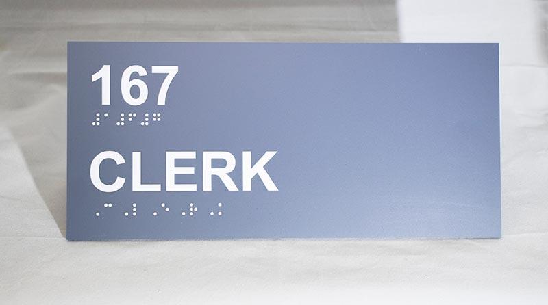 Braille-Sign-Clerk