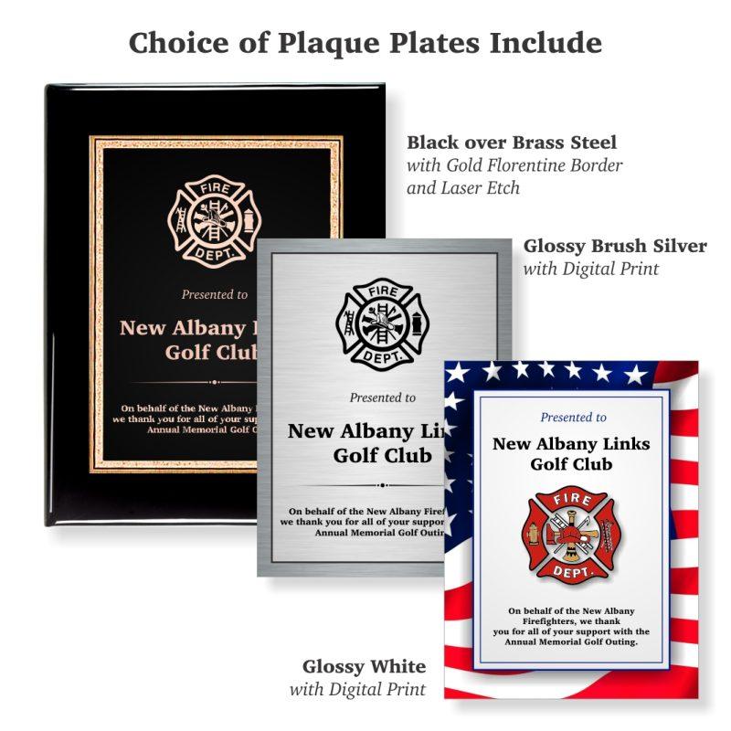 Choice of Plaque Plates Black Piano Finish