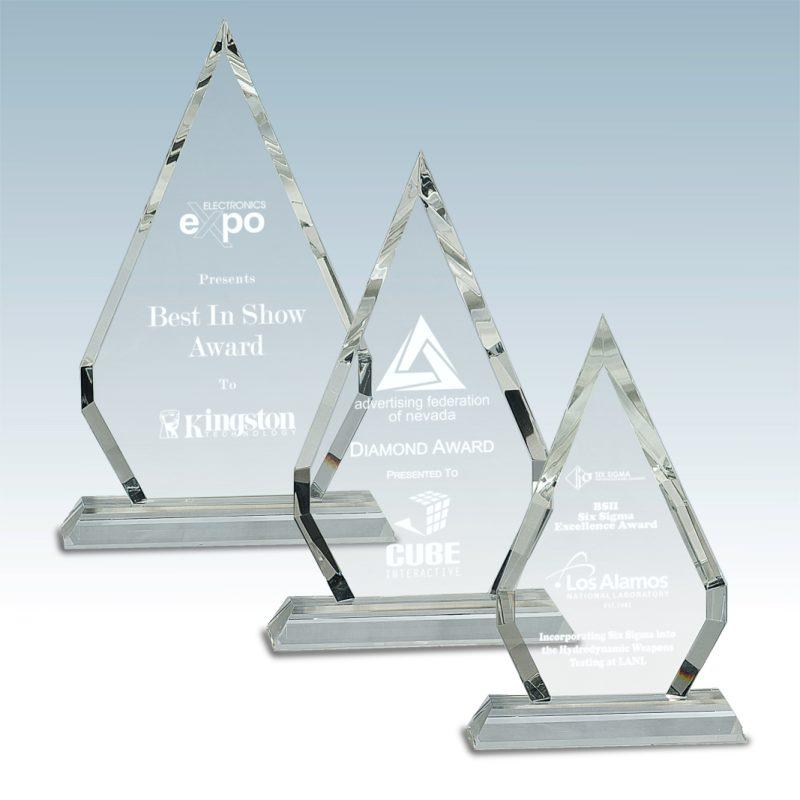 Arrow Point Crystal Award - HEADER