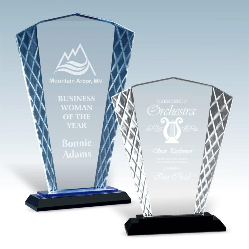 Fan Accent Glass Award - HEADER