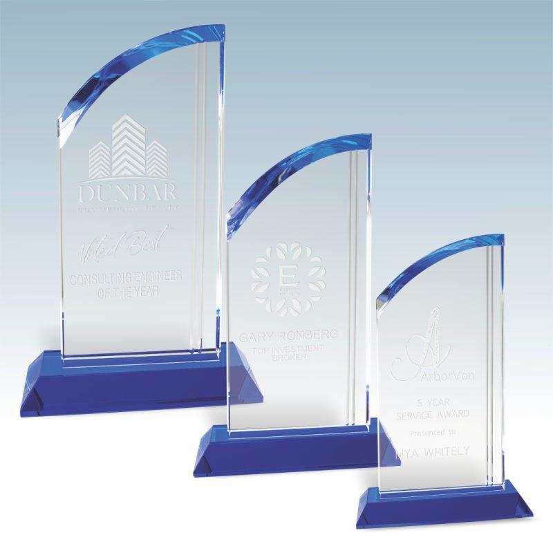Linear Accent Arch Crystal Award - HEADER