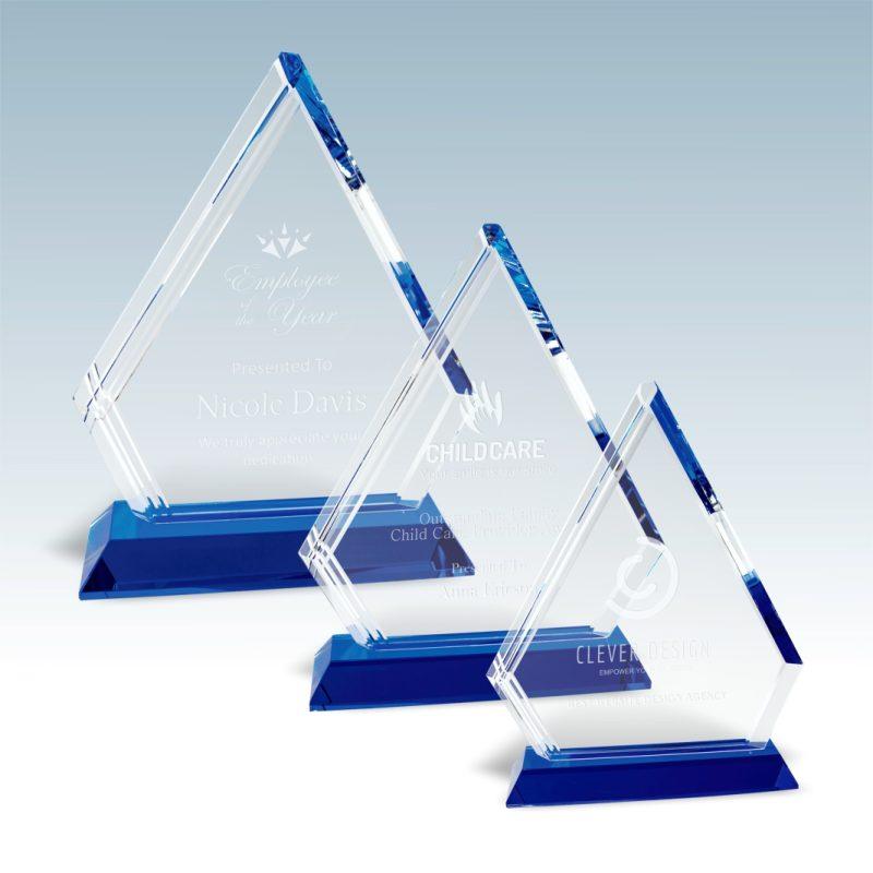 Linear Accent Arrowhead Crystal Award - HEADER
