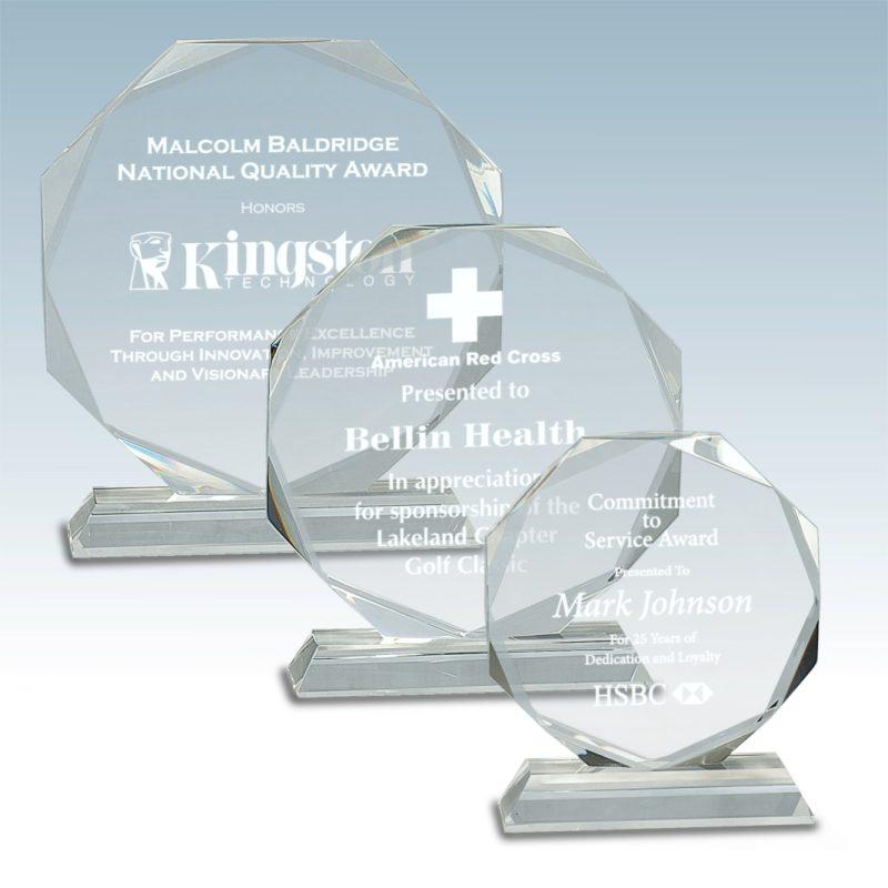 Octagon Facet Crystal Award - HEADER