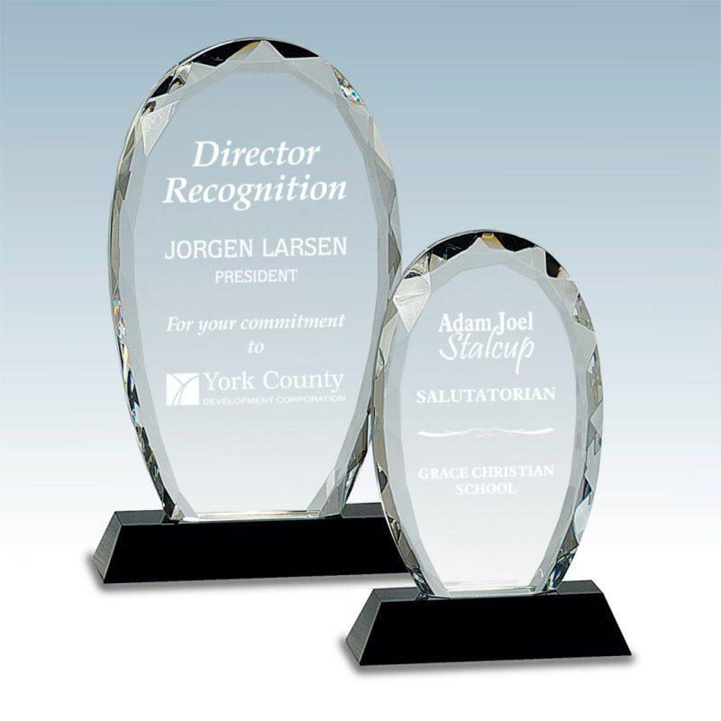 Oval Facet Crystal Award - HEADER