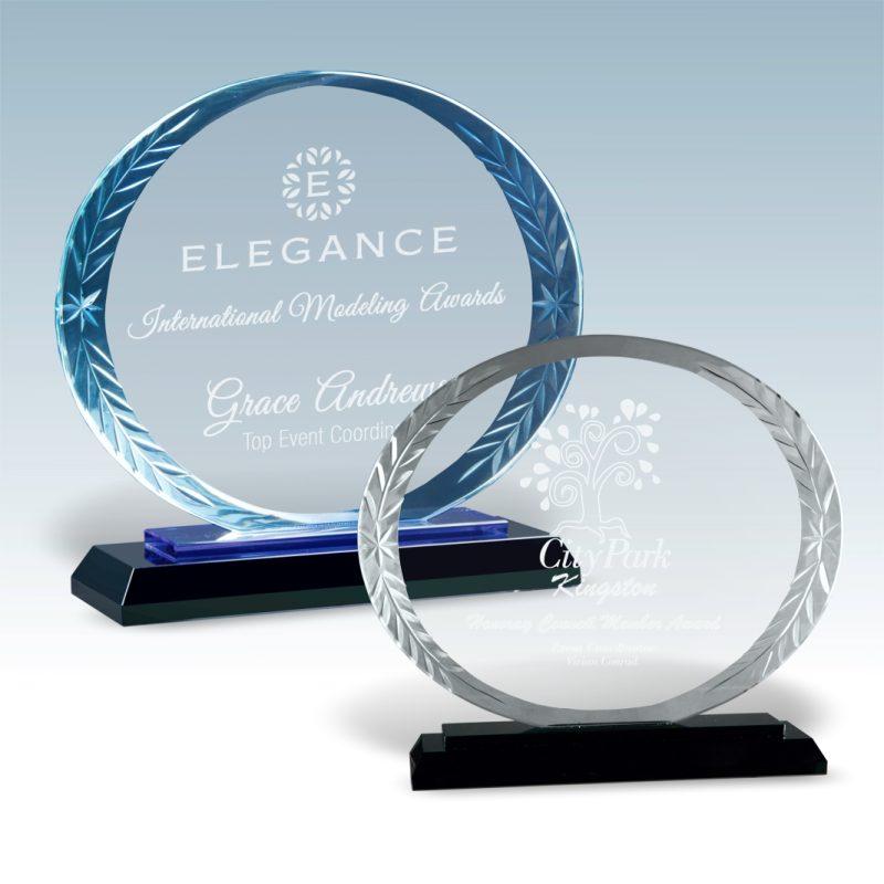 Round Accent Glass Award - HEADER