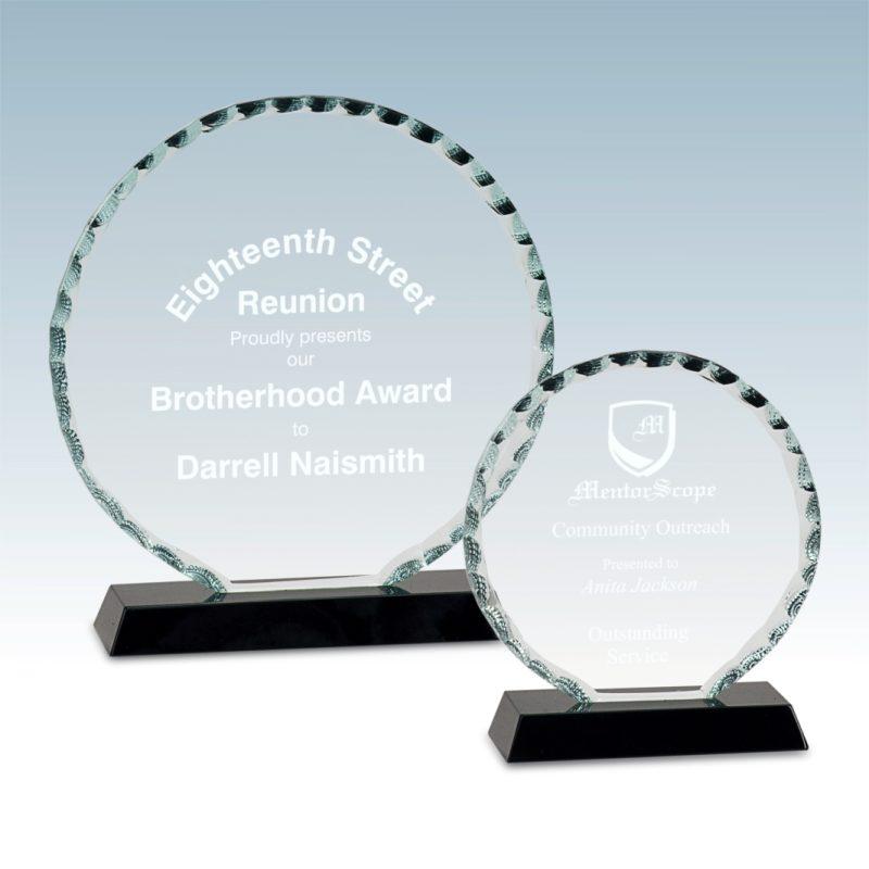 Round Facet Glass Award - HEADER