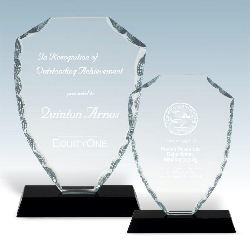 Shield Facet Glass Award - HEADER