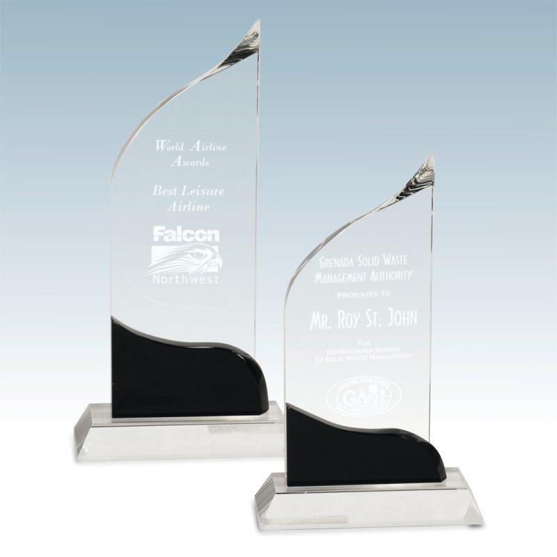 Sloped Crystal Award - HEADER
