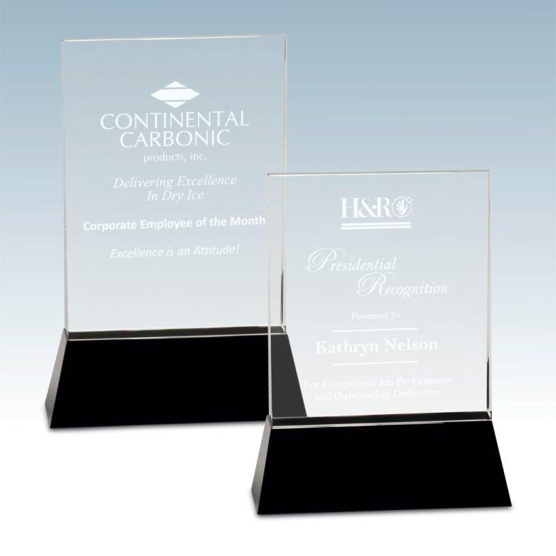 Square Wedge Crystal Award - HEADER
