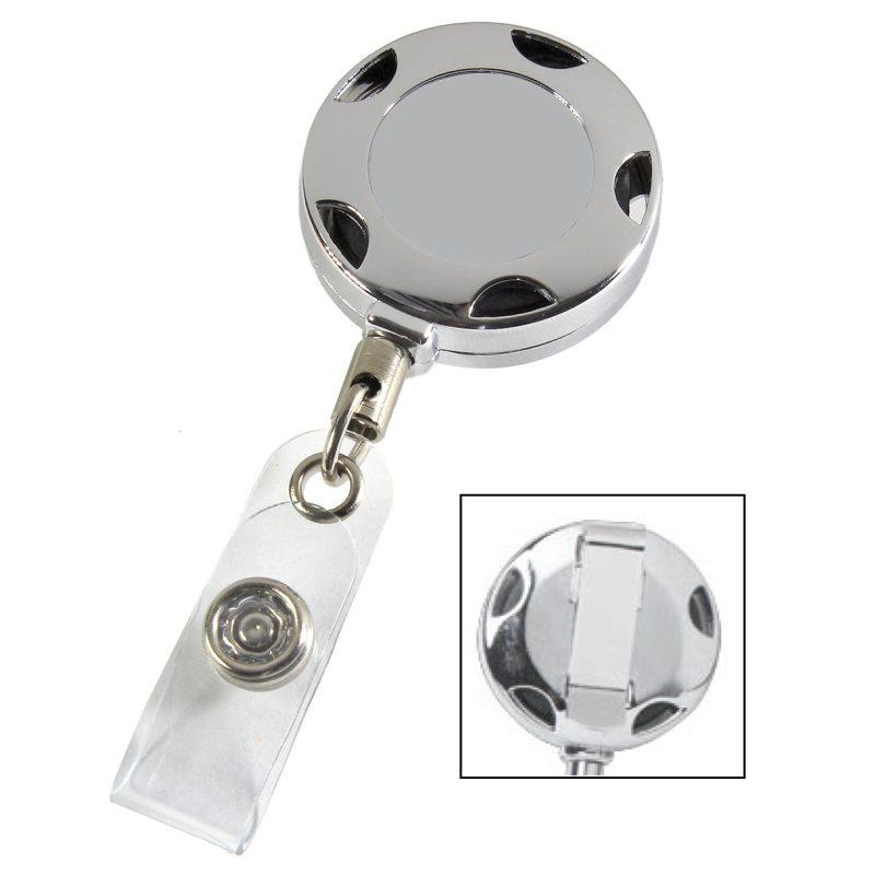 Chrome Sport Badge Reel