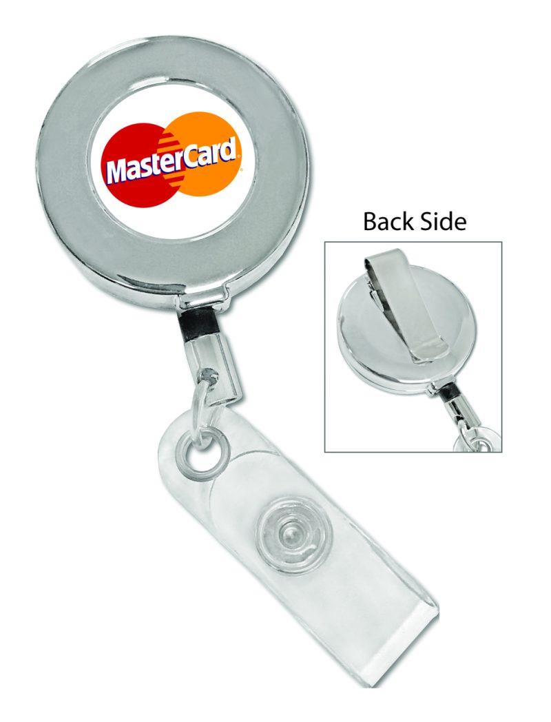 Metal Chrome Custom Badge Reel