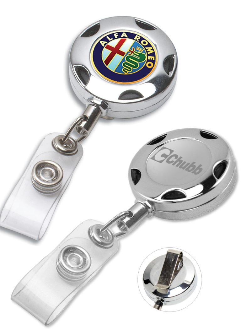 Sport Metal Chrome Custom Badge Reel