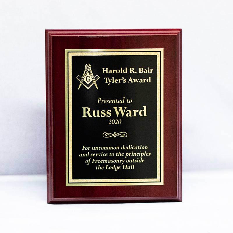 High Gloss Mahogany Plaque-Free Masons