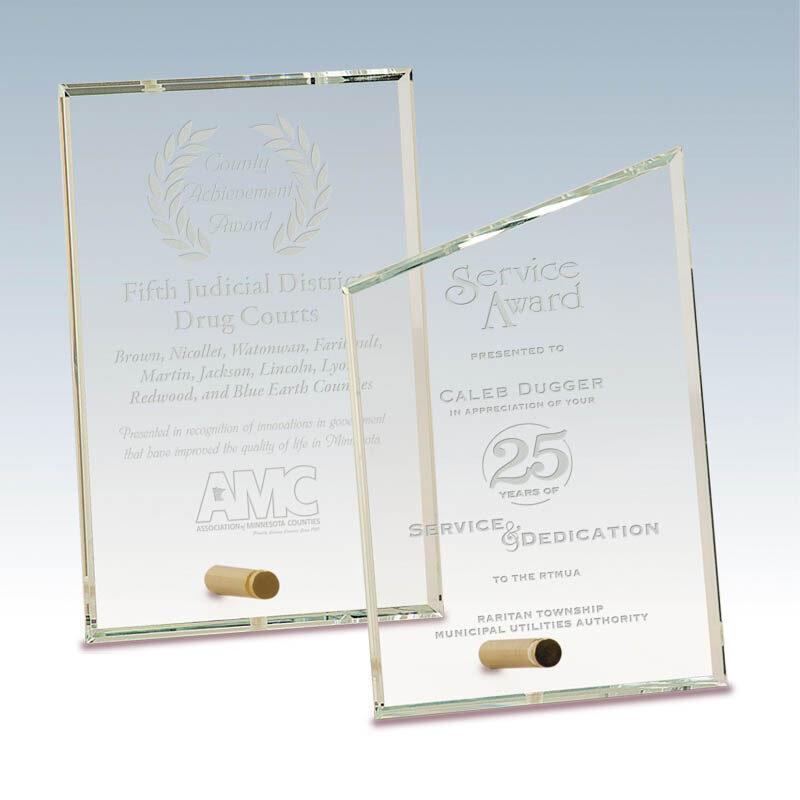 Brass Pin Glass Awards