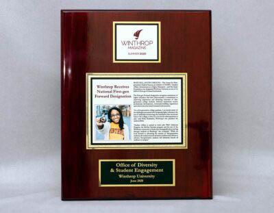 Winthrop Custom Plaque